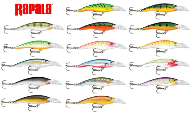 Расцветки Rapala scatter rap tail dabser
