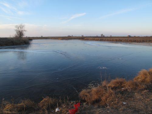 Прозрачный лед не способствует большим уловам, зато можно хорошенько изучить водоем