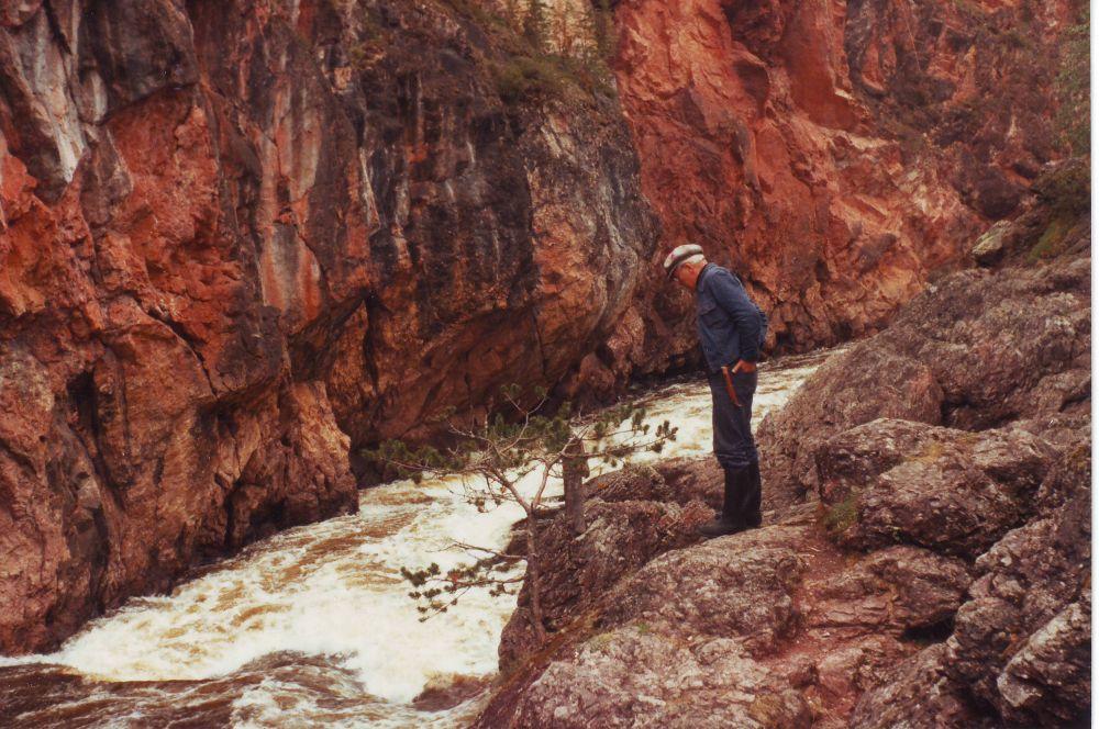 Пааво Корпуа на реке Оуланка
