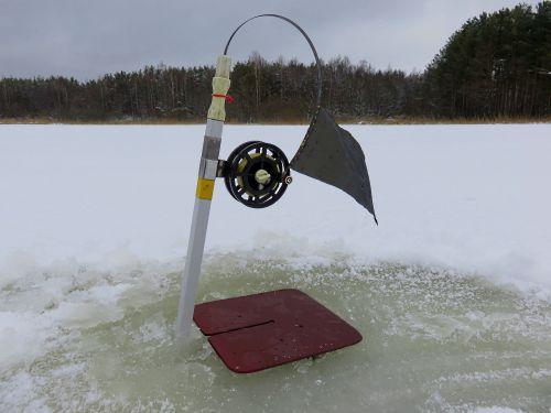 Фото 1. Зимняя жерлица в боевом положении