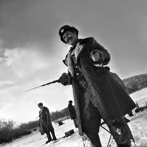 Военные строители на озере Большой Вилюй. 80-е годы