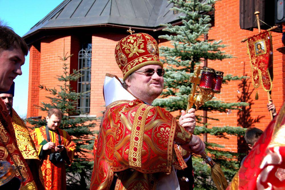Епископ Игнатий освящает хоспис