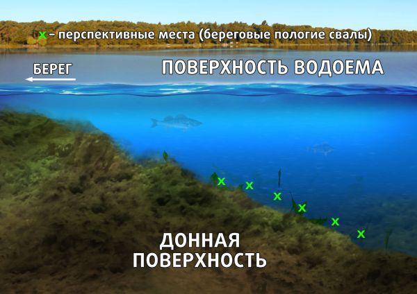 Пологие береговые глубоководные свалы