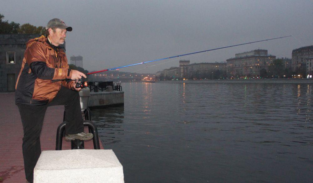 На Москве-реке в городе я ловлю уже лет двадцать