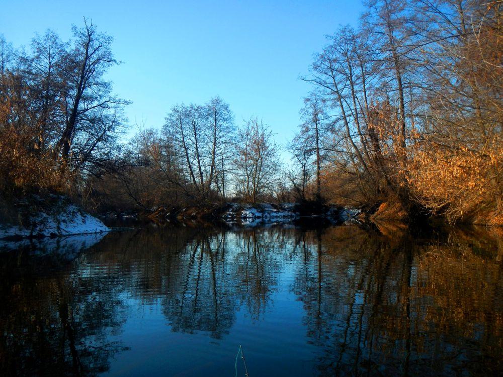 Красота зимней речки непередаваема