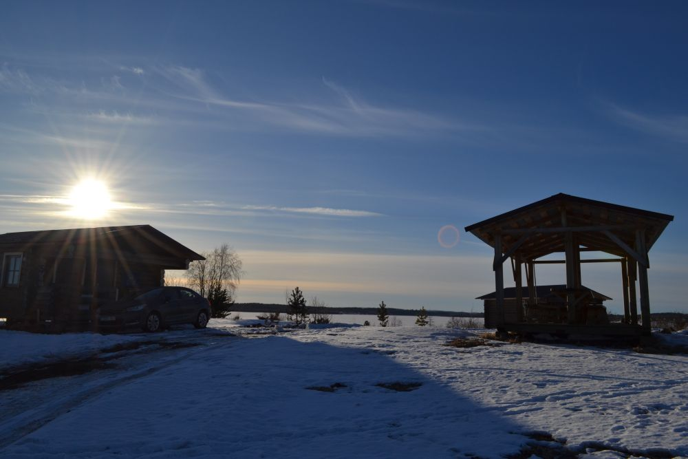 Морозное утро на нашей базе