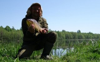 С фидером за прудовой рыбой