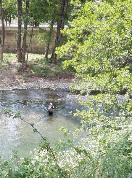 Нахлыстовик на реке Тер. Конкурент!