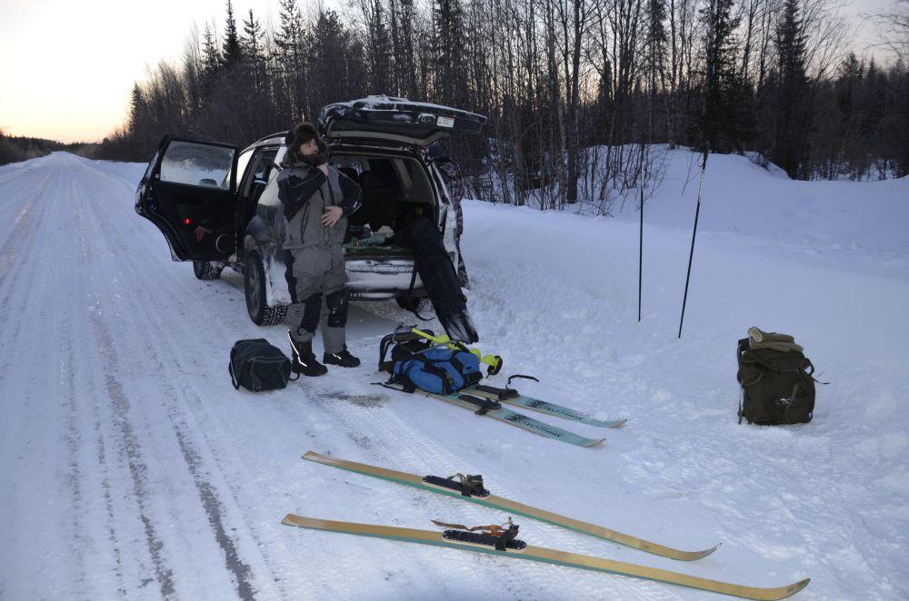 Безопаснее всего дойти от шоссе до кумжевых озер на широких лыжах