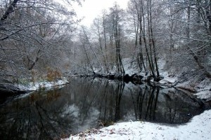 Малая река в зимний период: особенности охоты за щукой