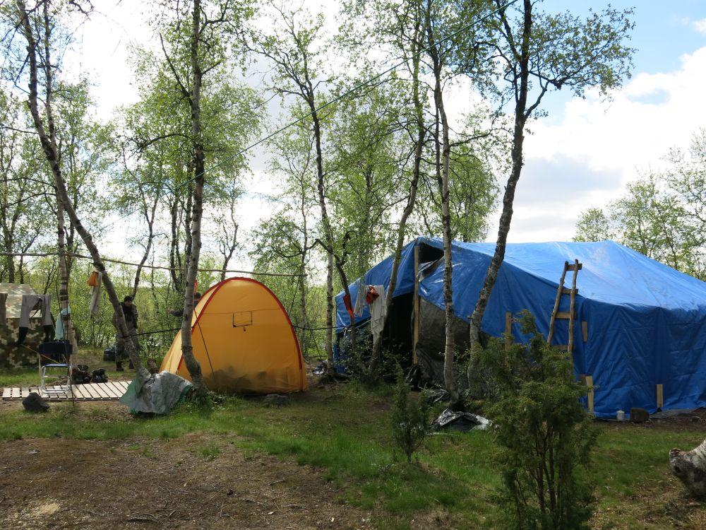 Лагерь приятно удивил своим комфортом