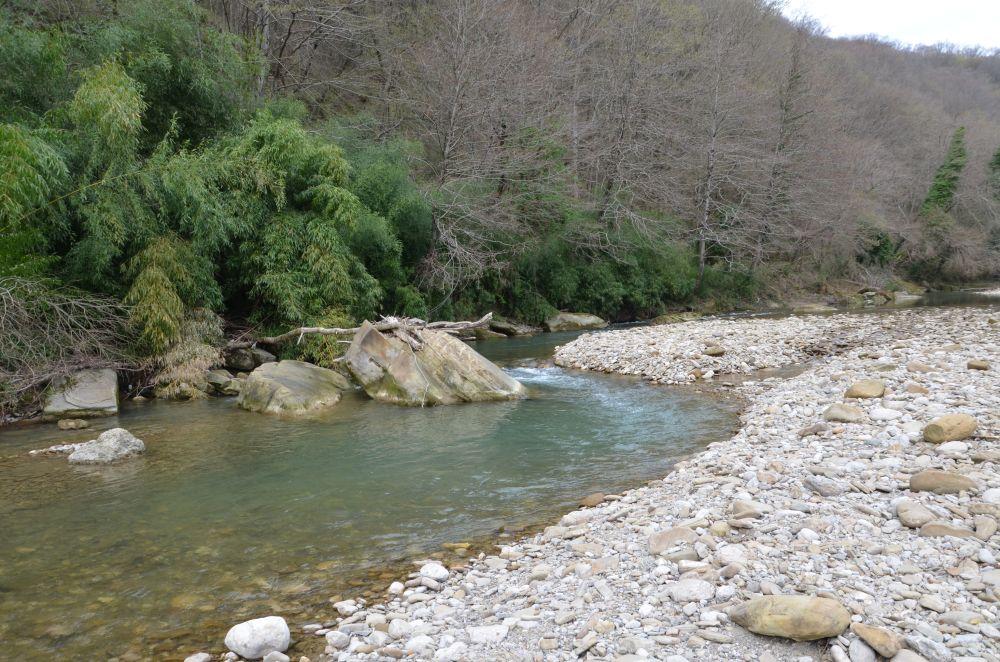 Река Кудепста - замечательное место для ловли подуста