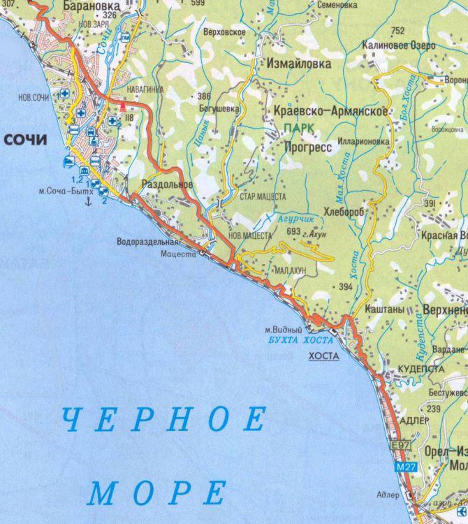 В нашем регионе много рек впадает в Чёрное море