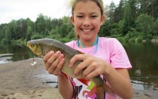 Со своим ребенком на рыбалку