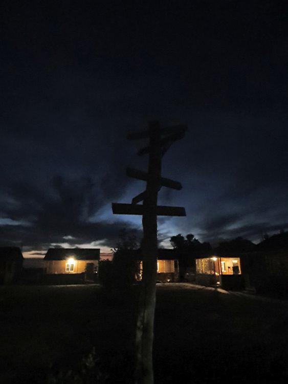 Выходишь такой на ночную рыбалку… И тут – оба-на! Но прочь суеверия - это всего лишь указатель, где какой город