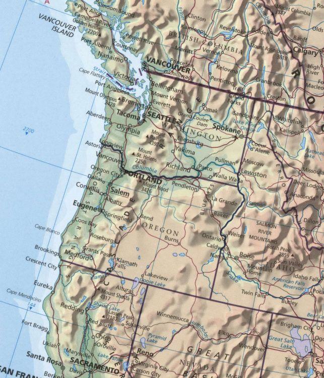 Самые большие популяции осетров идут на нерест в канадскую речку Фрейзер и американские Колумбию и Сакраменто