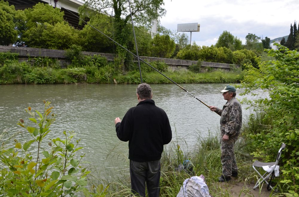 Так ловят рыбца на реке Хоста